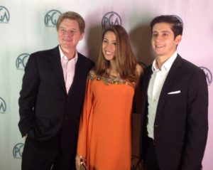 "The ""Spun"" actors (Steve Brewster, Grace Santos, Wesam Keesh) at the Producers Guild of America Weekend Challenge's screening of the Top 10 films."