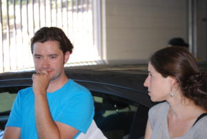 Finished at the first location in time. Company move to location 2. Our Director and AD thinking!
