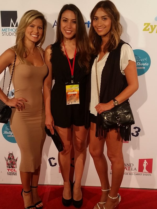 Friends Victoria Vodar and Argelia Guerra supporting me at Hollyshorts.  Odessa and Election Night screened. 1