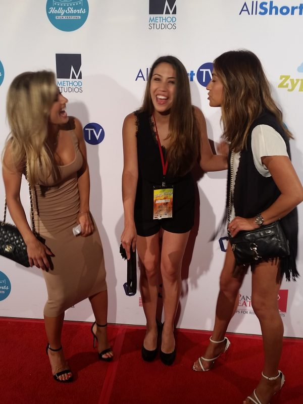 Friends Victoria Vodar and Argelia Guerra supporting me at Hollyshorts.  Odessa and Election Night screened. 2
