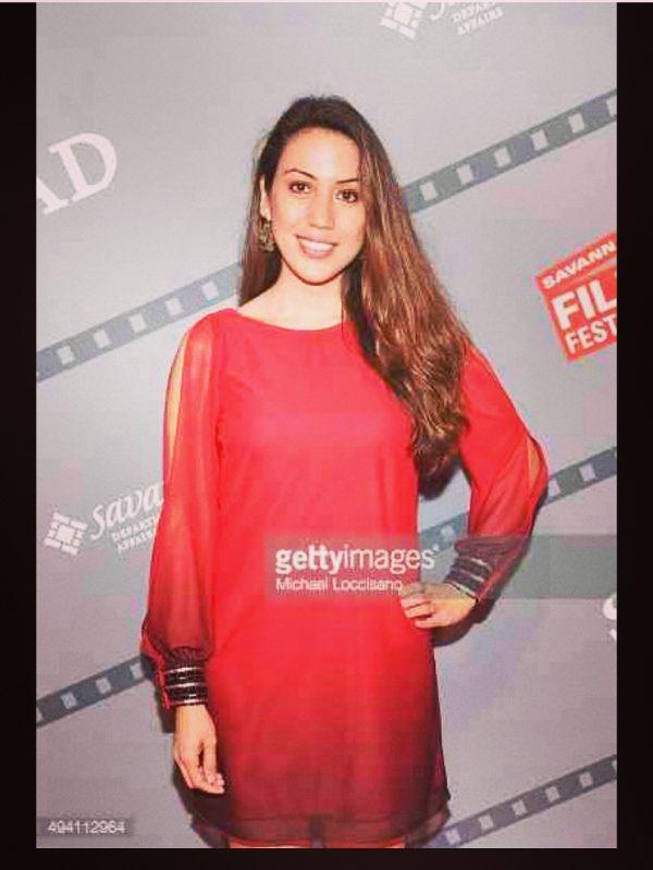 Grace Santos at the Savannah Film Festival for her film Odessa 1