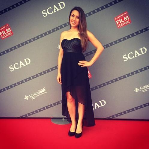 Grace Santos at the Savannah Film Festival for her film Odessa 2