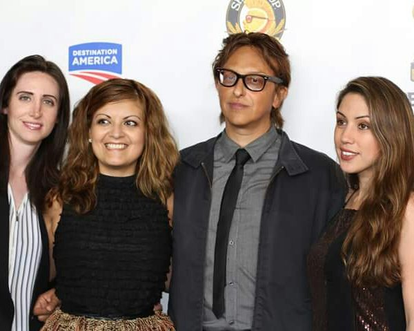 Patricia Chica,  Kamal Iskander, Grace Santos at Screamfest for their film A Tricky Treat